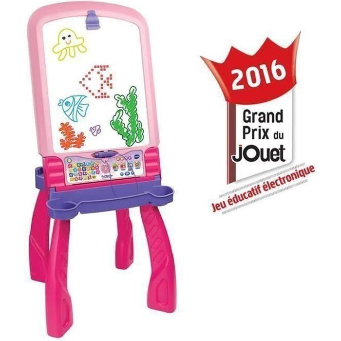 VTECH Magi chevalet interactif 3 en 1 rose