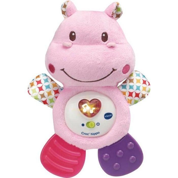 VTECH BABY - Croc'hippo rose - Hochet Musical Bébé