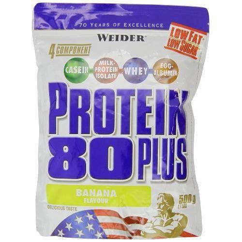 WEIDER Sachet de Protein 80+ Banane 500g