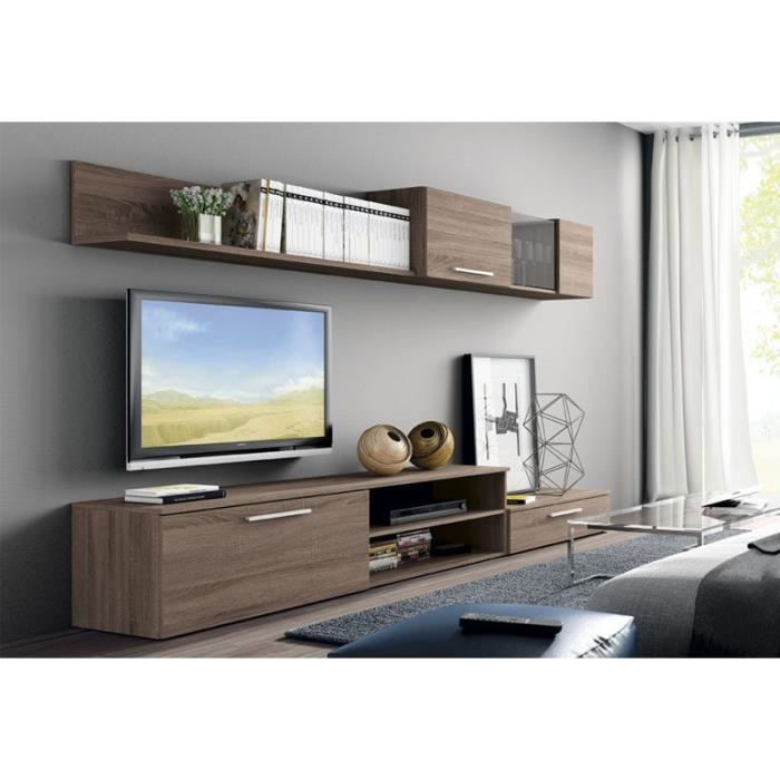 ensemble meuble tv mural pas cher. Black Bedroom Furniture Sets. Home Design Ideas