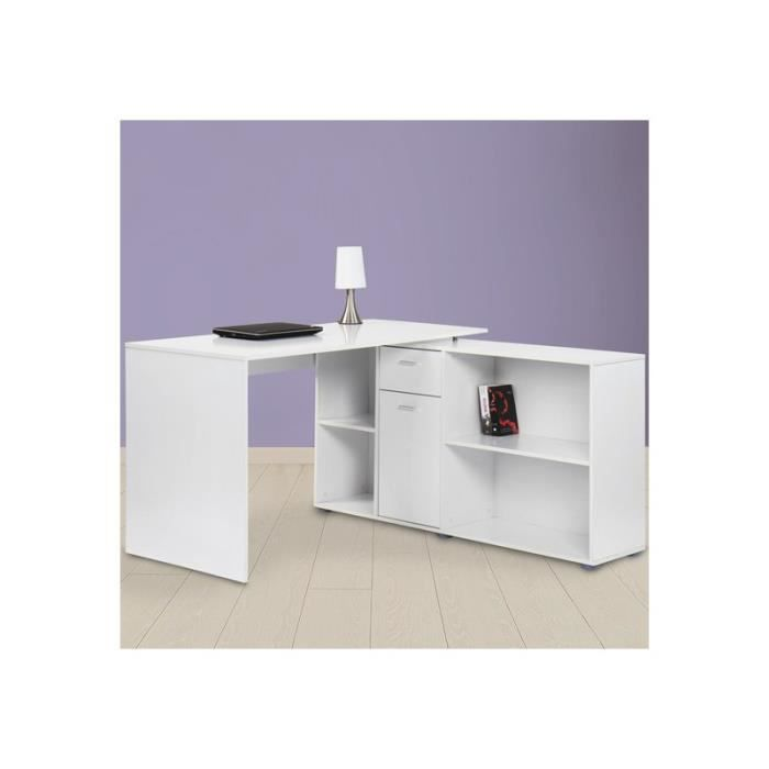 bureau d 39 angle blanc achat vente bureau bureau d 39 angle. Black Bedroom Furniture Sets. Home Design Ideas
