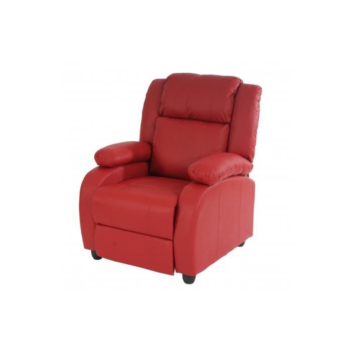 fauteuil relax alpina rouge achat vente fauteuil cdiscount. Black Bedroom Furniture Sets. Home Design Ideas