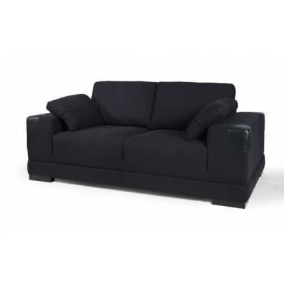 canap en tissus 2 places taille 194x83x102 achat vente canap sofa divan tissu bois. Black Bedroom Furniture Sets. Home Design Ideas