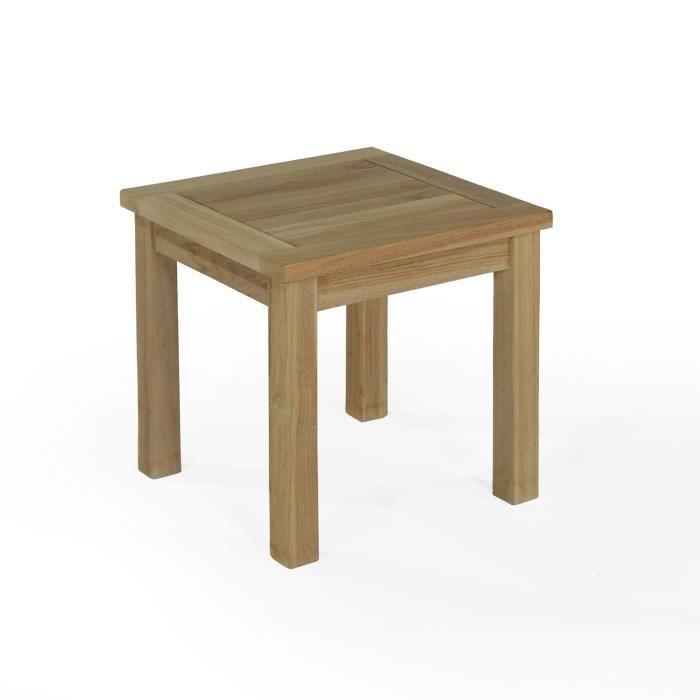 vidaXL Table Basse Table de Salon Teck recycl/é avec Pieds V Table dappoint
