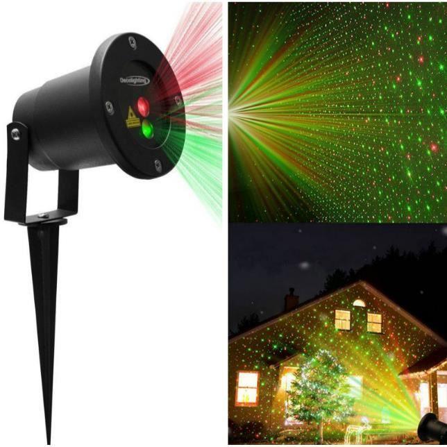 Lumiere laser noel