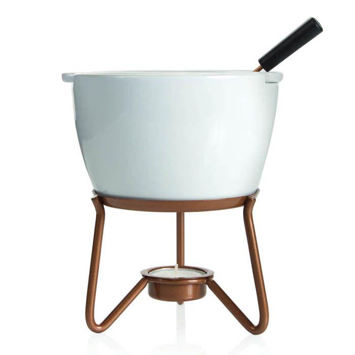 Ensemble à Fondue Fromage Chocolat rouge en fonte pot Party Holiday Cuisine Maison Cadeau