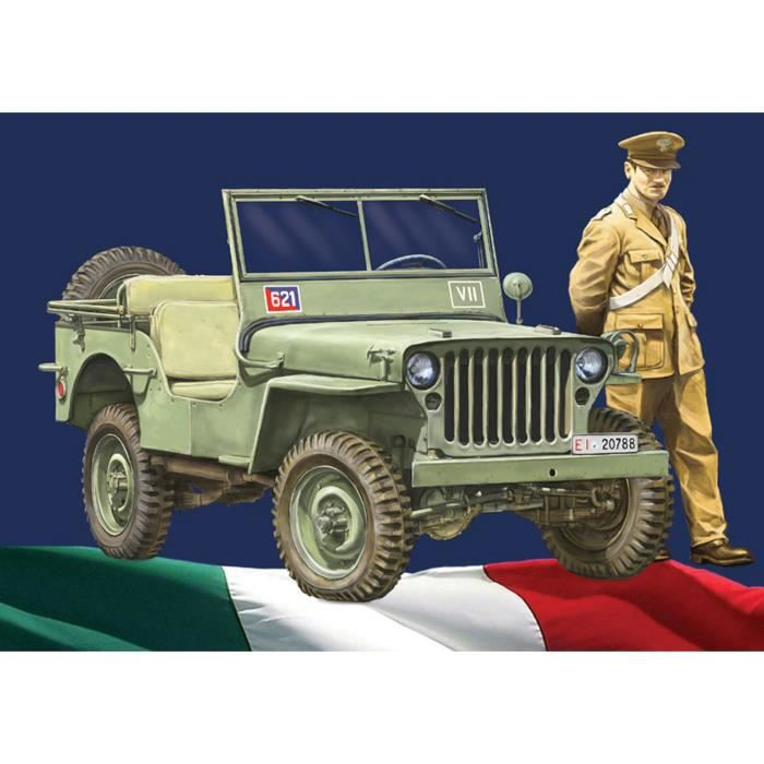 maquette v hicule militaire willys jeep arma dei carabinieri achat vente voiture. Black Bedroom Furniture Sets. Home Design Ideas