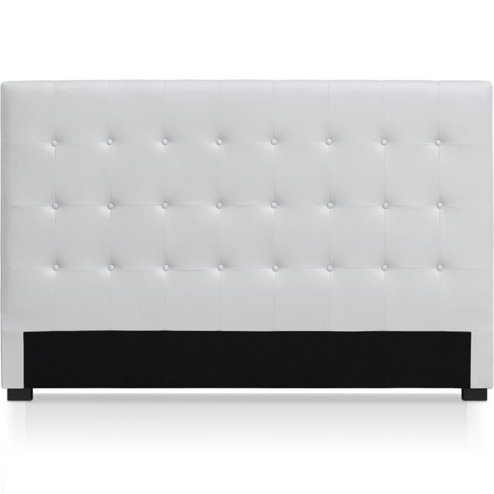 t te de lit luxor 180cm blanc achat vente t te de lit cdiscount. Black Bedroom Furniture Sets. Home Design Ideas