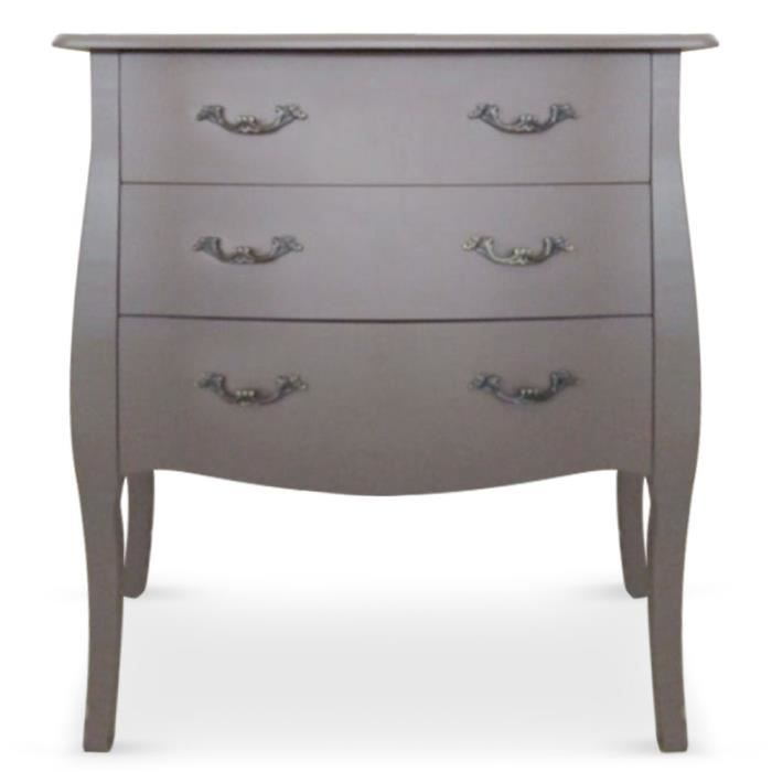 commode 3 tiroirs retro taupe achat vente commode de chambre commode 3 tiroirs retro taupe. Black Bedroom Furniture Sets. Home Design Ideas