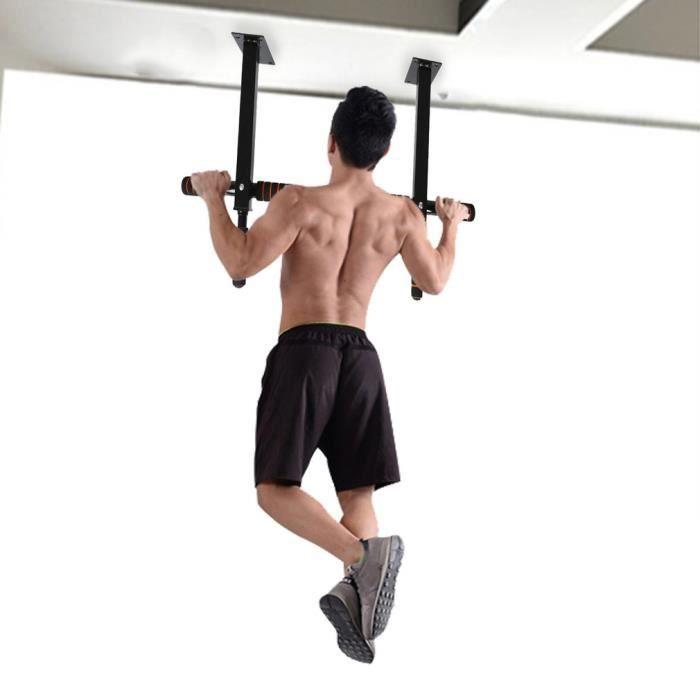 le fitness pour la maison Leku Barre de traction r/églable pour porte avec charge maximale de 100 kg lentra/înement du corps et lentra/înement
