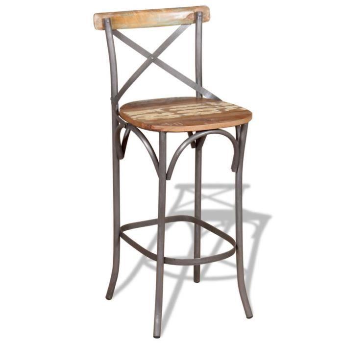 récupération massif de cm 45x45x110 Chaise bar Bois de luKc3TF1J