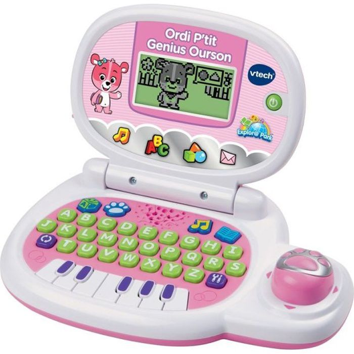 ORDINATEUR ENFANT VTECH - Ordi P'tit Genius Ourson Rose - Ordinateur
