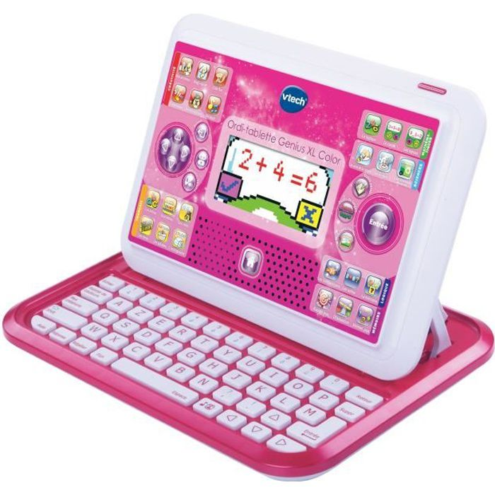 vtech ordi tablette genius xl color rose achat vente ordinateur enfant black friday le 24. Black Bedroom Furniture Sets. Home Design Ideas