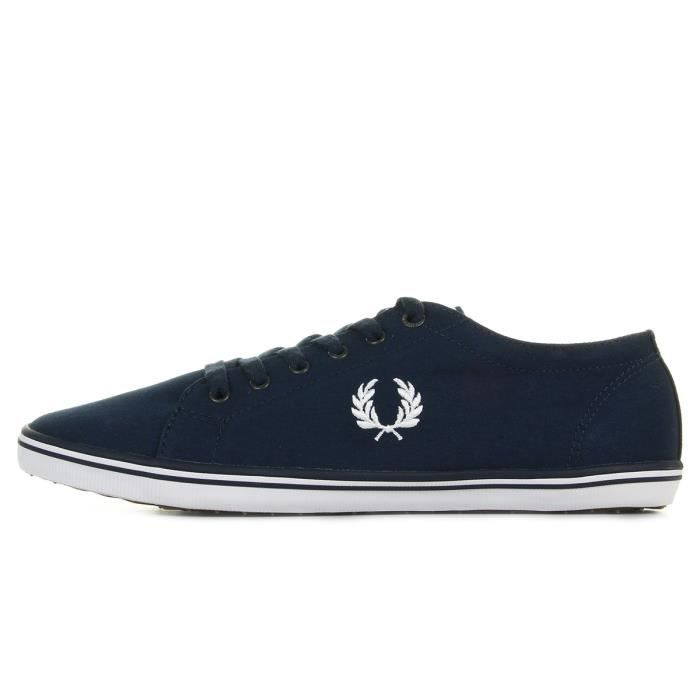 Baskets Fred Perry Kingston Twill Carbon Blue