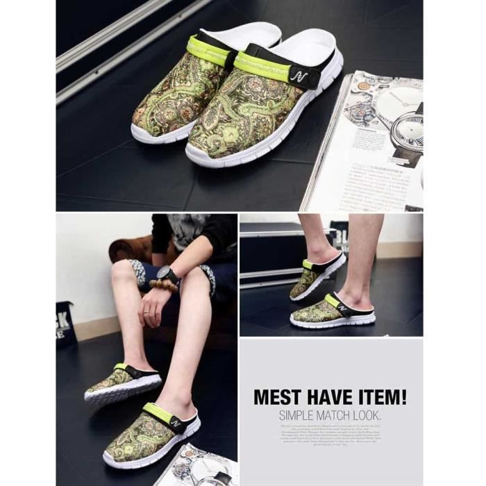Summer Beach Casual Hommes Sandales évider Slipper Chinelo Masculino Hommes Chaussures