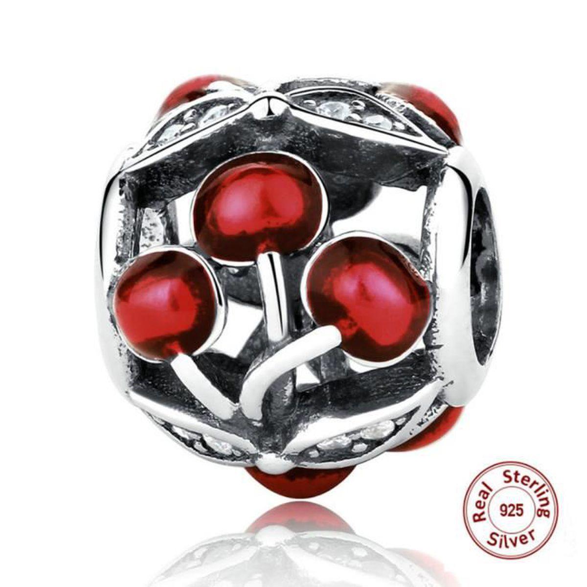 Authentique Argent Sterling 925 Daisy Fleurs Zircon Perles De Verre Coupe Original Bracelet