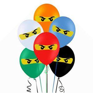 BALLON DÉCORATIF  Paquet de ballons inspirés du lego ninjago 30 poin
