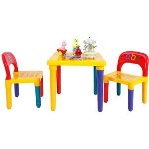 TABLE ET CHAISE Giantex Ensemble Table et 2 Chaises Enfant Imprimé