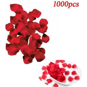 TULLE - NOEUD - RUBAN Lot de 1000pcs Petales de Rose Artificielles Rouge