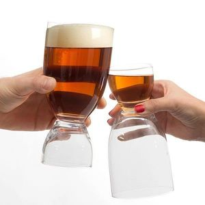 Verre à bière - Cidre Verre à Biere et Shot 2 en 1, Design original et i