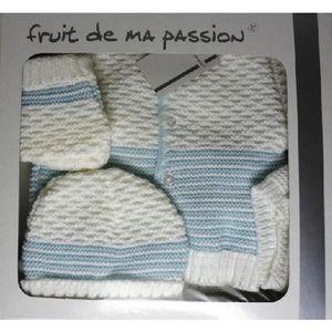 COFFRET CADEAU TEXTILE Coffret naissance bebe Idee cadeau 4pièces CN4pBR-