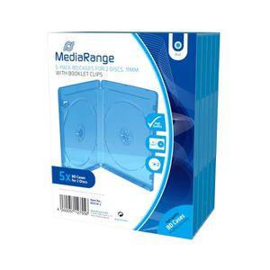 RANGEMENT CD-DVD MediaRange BOX38-2, Boîtier double, 2 disques, Ble