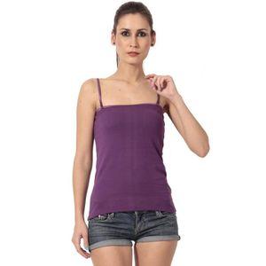 Débardeur Coton violet Débardeur à bretelles fines pour femm