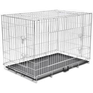 CAISSE DE TRANSPORT Cage métallique et pliable pour chiens XXL