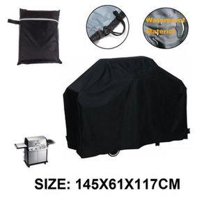 LOT APPAREIL CUISSON 145x61x117cm Noir Bbq étanche couverture pluie ext
