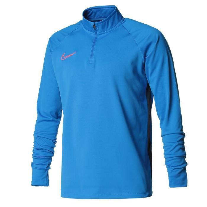 NIKE Sweat 1/4 zippé DRY ACADEMY DRIL - Homme - Bleu