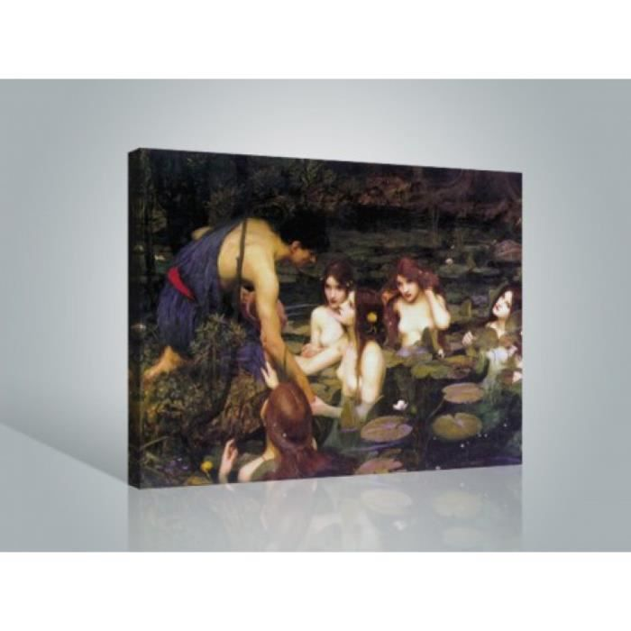 john william waterhouse poster reproduction sur achat vente tableau toile cdiscount. Black Bedroom Furniture Sets. Home Design Ideas
