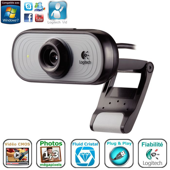 logitech webcam c100 prix pas cher cdiscount. Black Bedroom Furniture Sets. Home Design Ideas