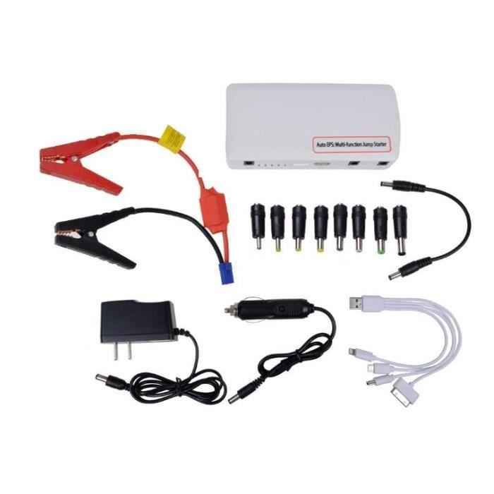 12000mAH multifonction 12V voiture batterie secours démarrage démarreur chargeur de secours pour téléphone portable PDA tablette PC
