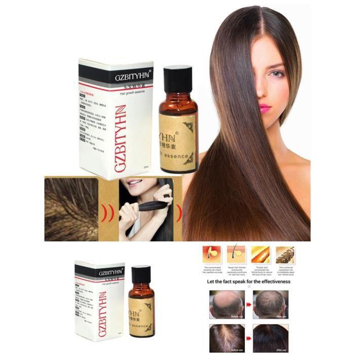 Huile de sérum pour la croissance des cheveux la plus efficace d'Asie 100% d'extrait naturel 20 ml