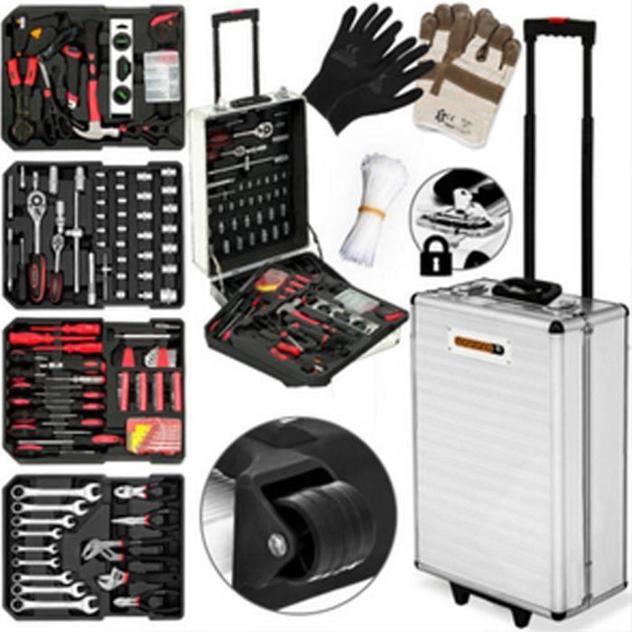 GMM-Valise multi outils 725 pièces - Couleur d'argent