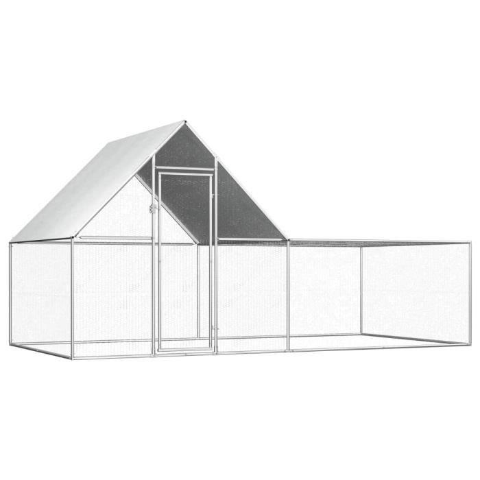 🍓7601Moderne - Poulailler extérieur - Enclos poulailler Contemporain- Parc grillagé Clapier d'extérieur cages pour lapin petits ani