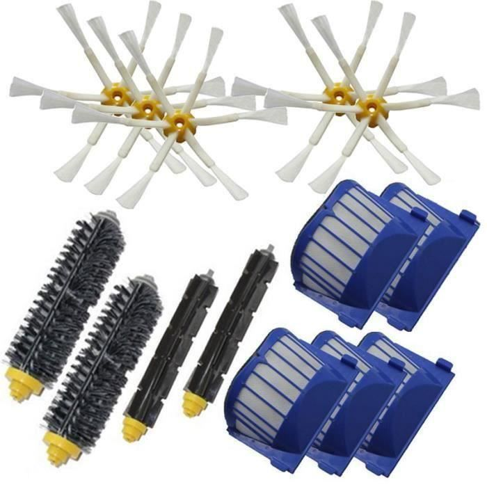 Brosse a batteur+ Aero Vac Filter 6 bras Brosse laterale pour iRobot Roomba 528 529 595 610 620 625 630 650 660 aspirateur robot