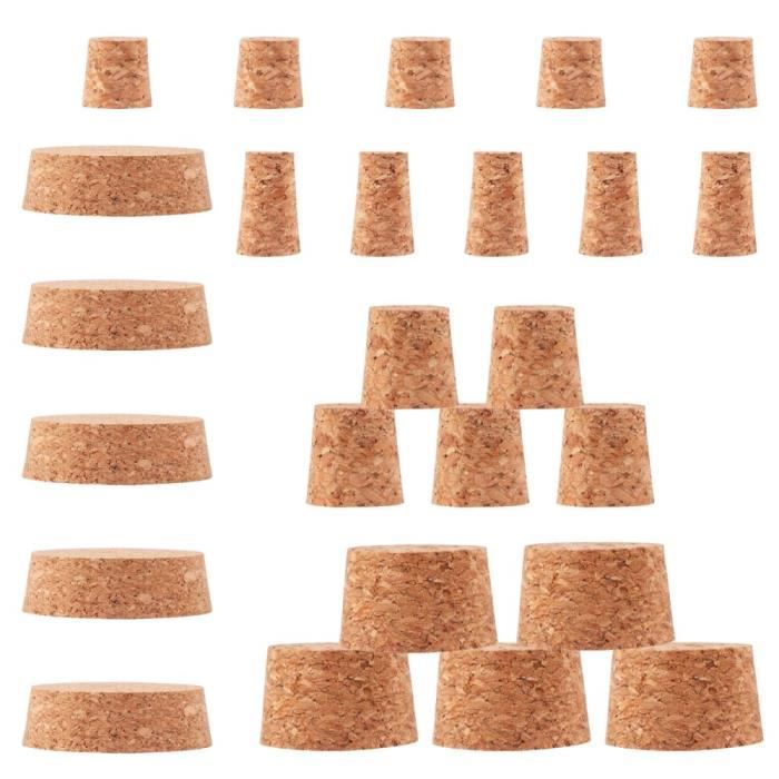 Bouchons créatifs de boisson de bouchon de bouteille de liège de vin de 25-30 pièces pour le Restaurant à la maison gard*DE16552
