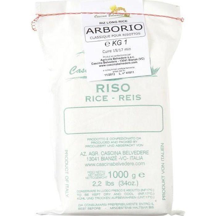 Riz long Arborio C Belvedere, Sac en toile 1 kg