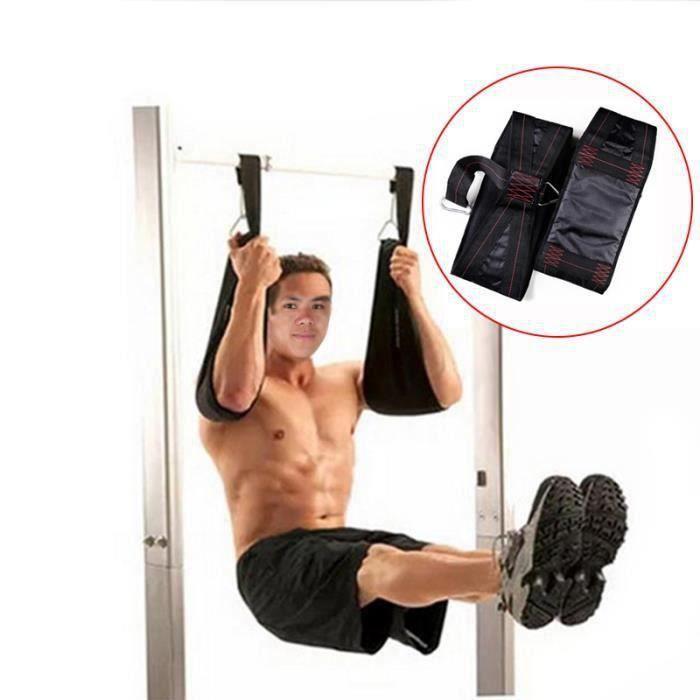 Lot de 2 Bandes de bras Fitness Musculation à domicile Ceinture à suspendre la barre fixe pour effectuer des tractions