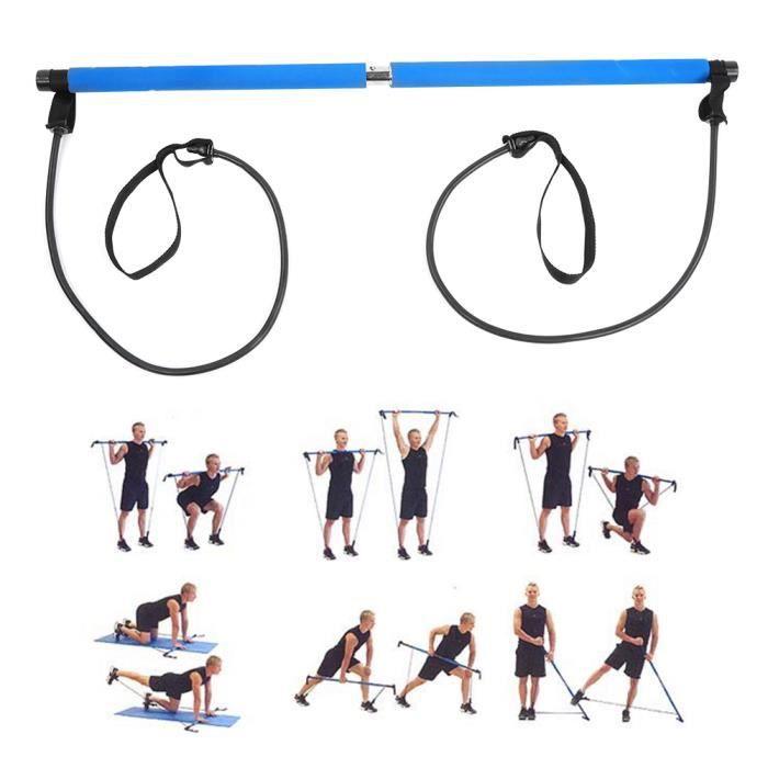 Bande De Résistance Élastique Portable Pilates Studio Yoga Gym Exercice Maison Pilates Bar Stick Corde De Remise En Forme-NIM