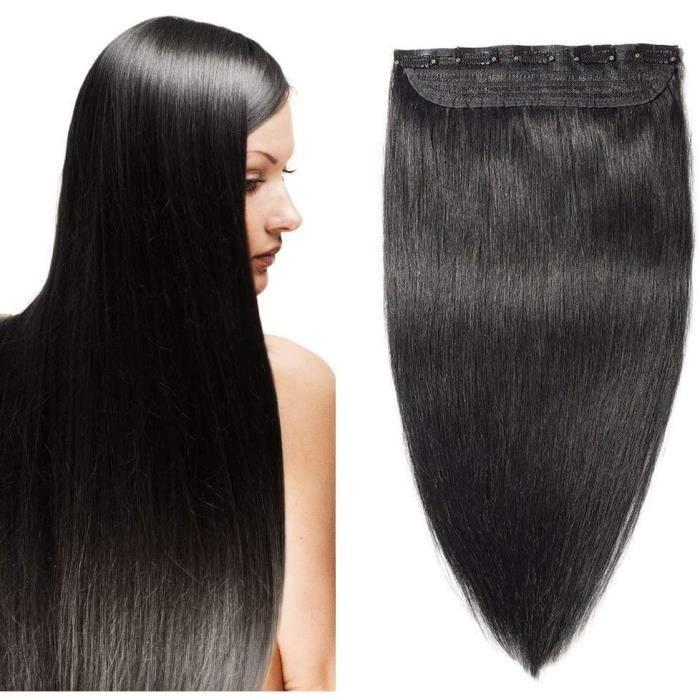 Extensions de cheveux 24--60CM Extension Monobande Cheveux Naturel (Max Epaisseur)[Une Bande 5 Clips] Clips in Extension 314592