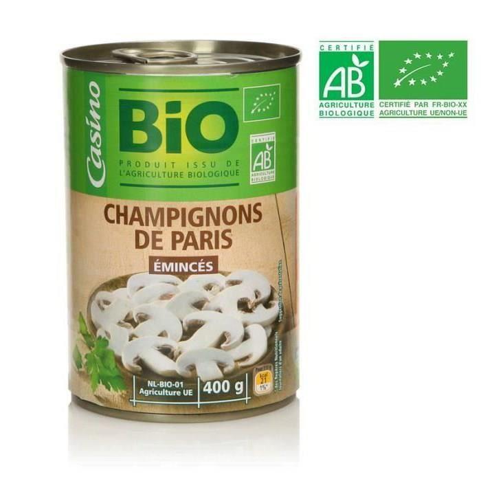 Champign.eminces 400g co bio