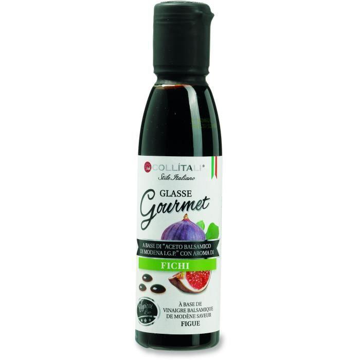 COLLITALI Crème balsamique de Modène aromatisation figue - bouchon graphique - 180 g / 150 ml