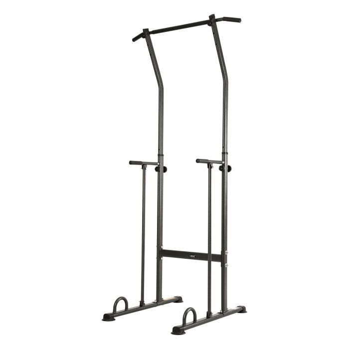 ISE Power Tower Pull Up Barre de Traction Chaise Romaine Ajustable Multifonctions,Dips Station Chin Up Bar réglable pour Fitness