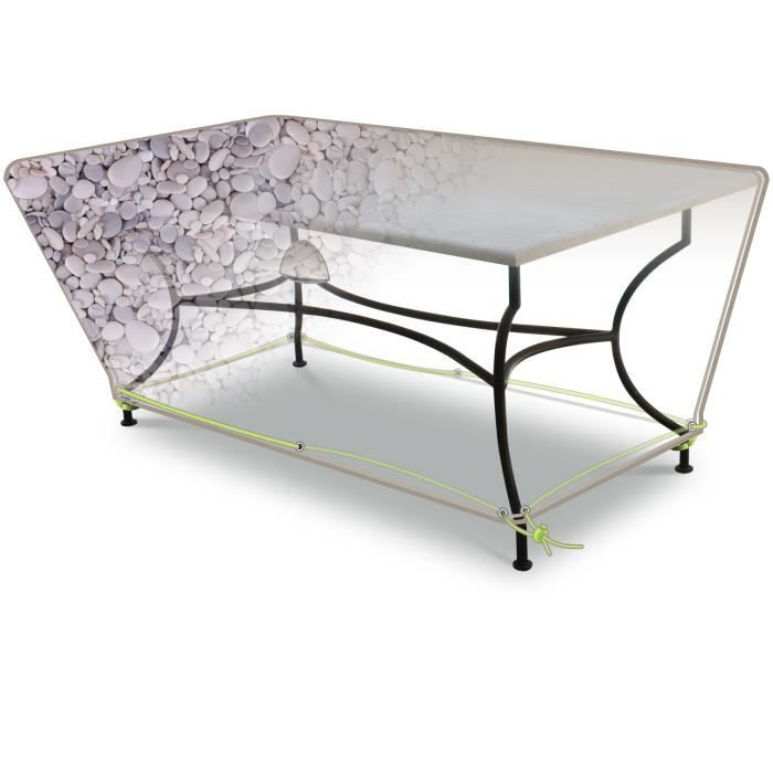 HOUSSE DE PROTECTION IMPRIMEE TABLE RECT. 4-6 PERS