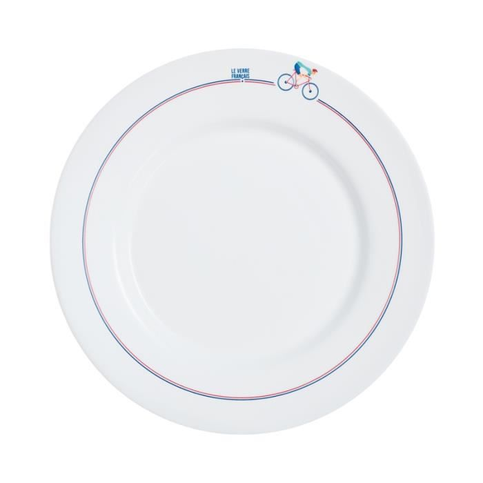 Assiette cyclisme - Le Verre Français - Luminarc