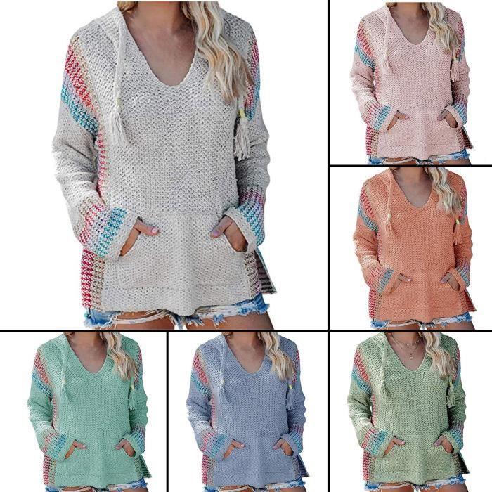 【PULL - CHANDAIL】Mode femmes décontracté col roulé col roulé couleur unie à manches longues pull pull xiao958