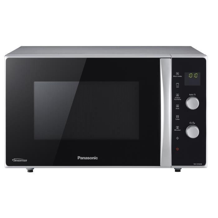 Panasonic NN-CD565BEPG Four micro-ondes combiné grill pose libre 27 litres 1000 Watt noir - argent