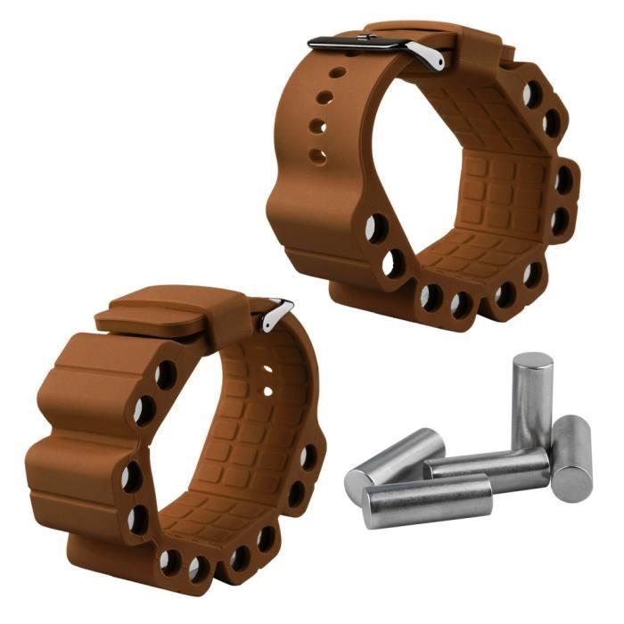 2pcs Poids Bracelets lestés pour Sangles de Réglable Fit Sangle de Poignet Pour Entraînement